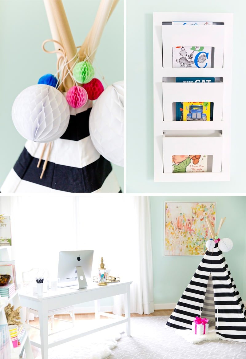 Kid's Play Area in Home Office, Blogger Pizzazzerie.com