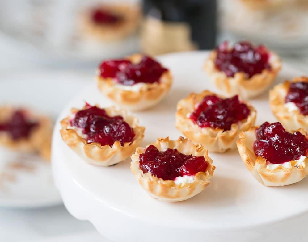 bourbon infused cranberry tarts