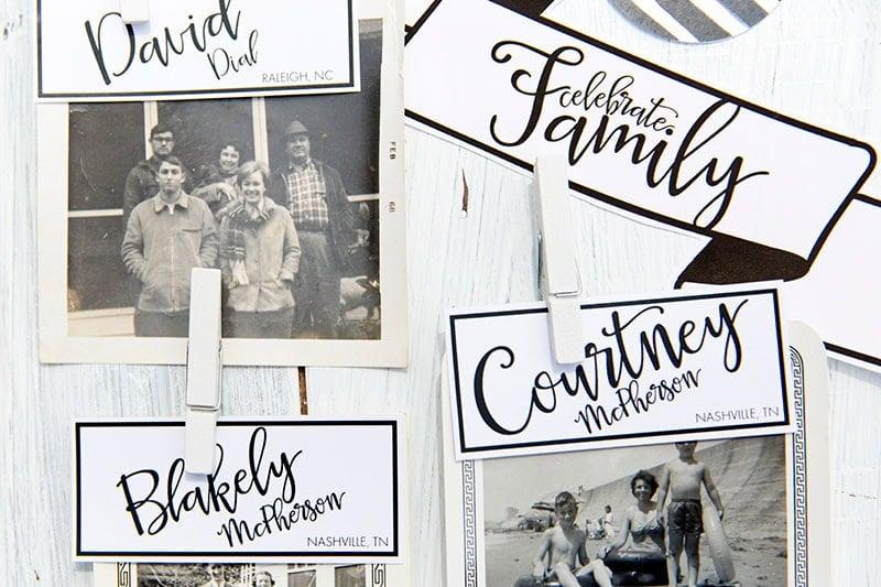 Family Reunion Printables and Photos!
