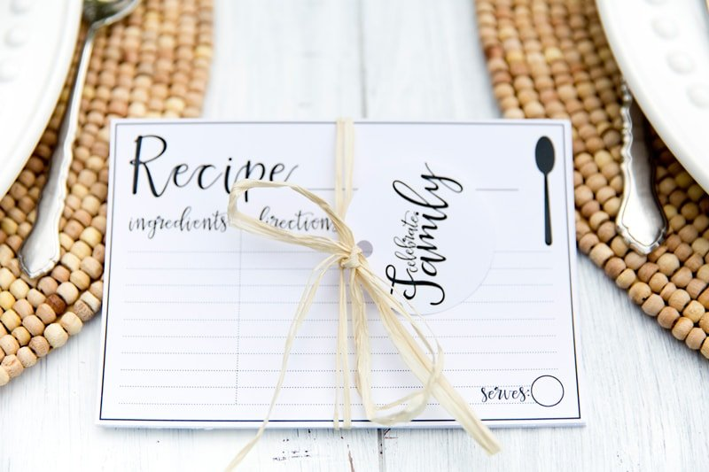 Recipe Card Printable Gifts