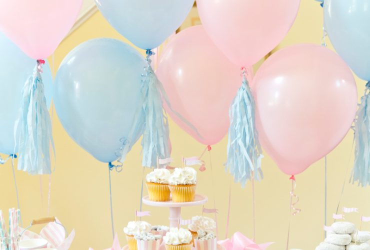 Boy or Girl? Blue  + Pink Gender Reveal Party