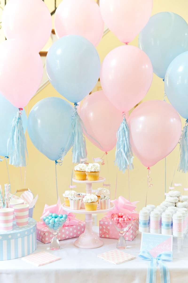 Boy or Girl? Blue + Pink Gender Reveal Party | Pizzazzerie