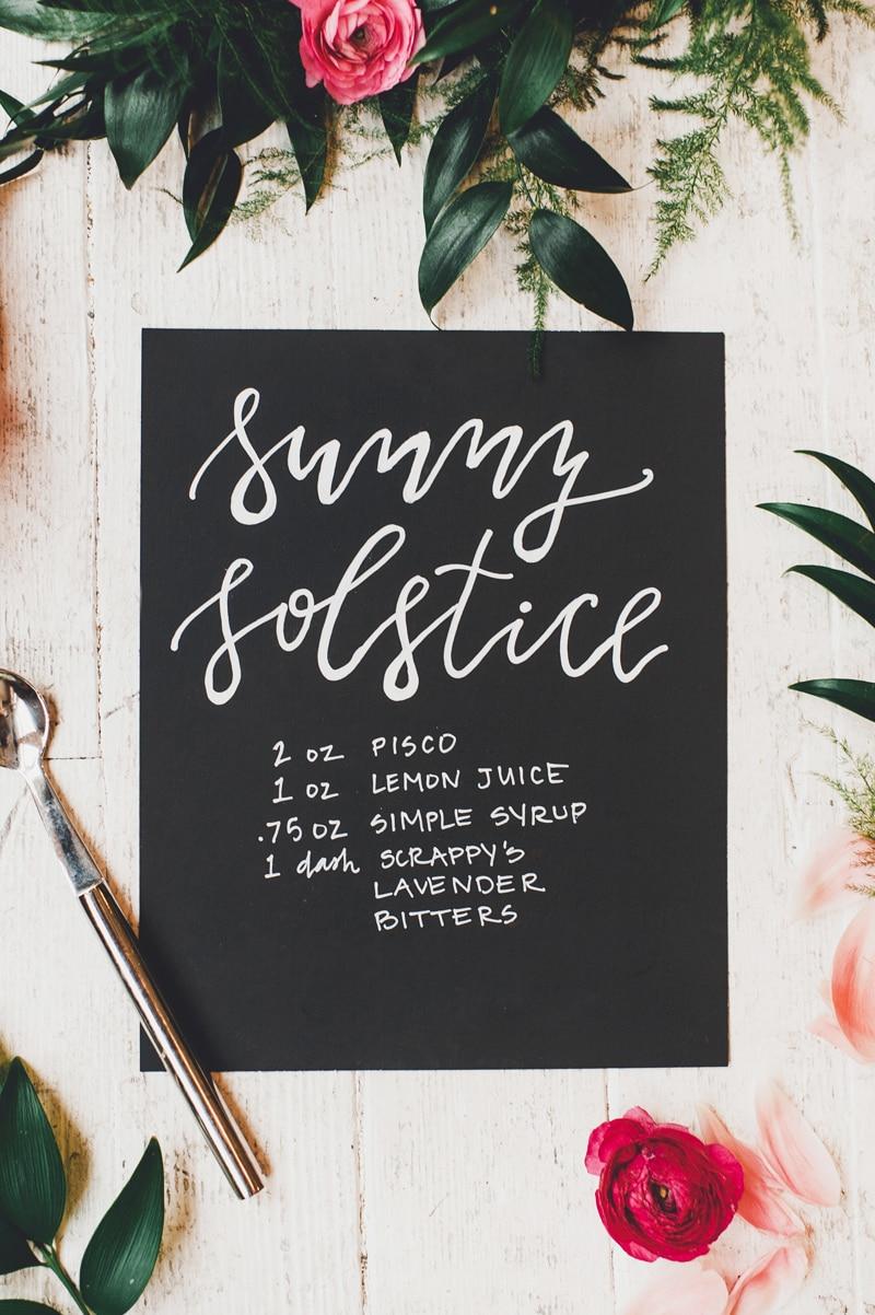 summer solstice cocktail a blooming summer bridal shower