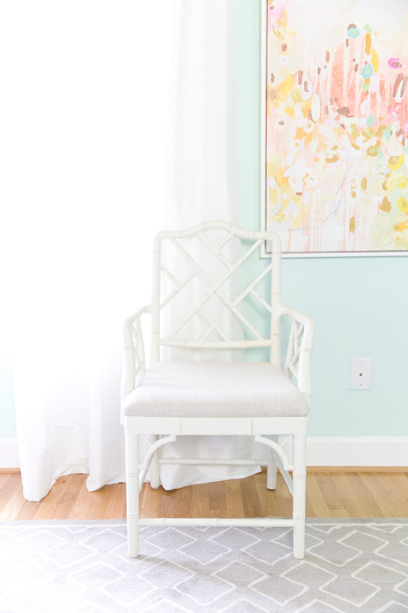 Chinoiserie White Chair, Blog Office