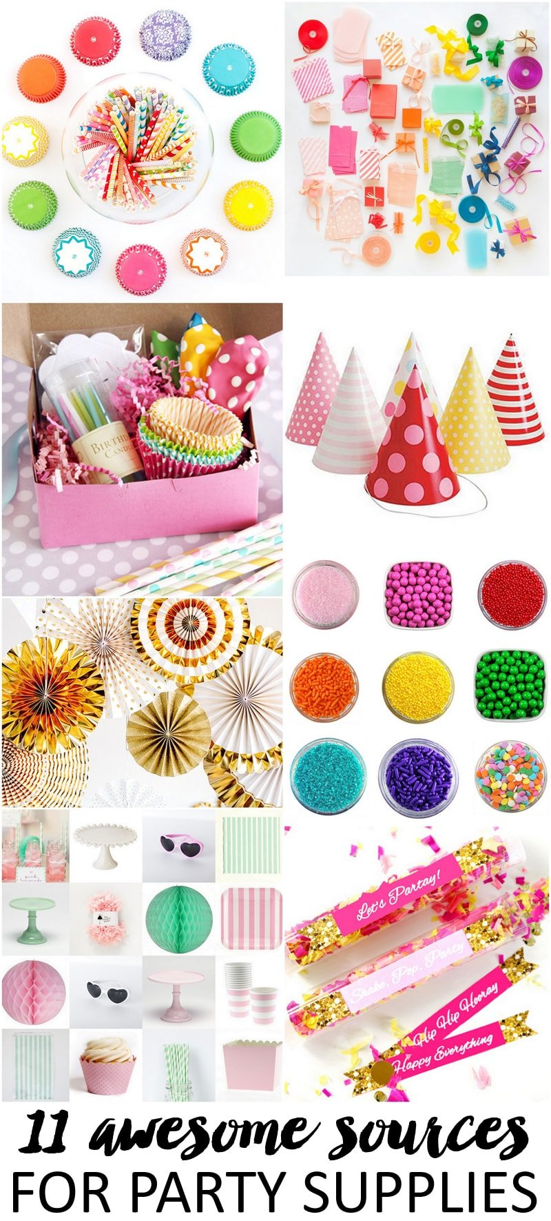11 awesome sources for party supplies pizzazzerie for Decoration list