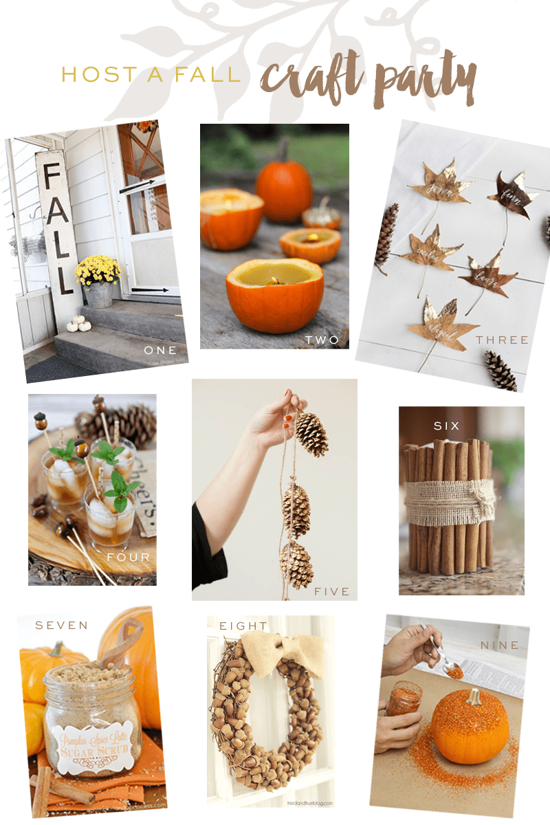 Host a pinterest worthy fall craft party pizzazzerie for Fall diy crafts pinterest