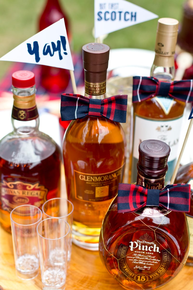 A Dapper Gentleman's Scotch Themed Birthday Party!