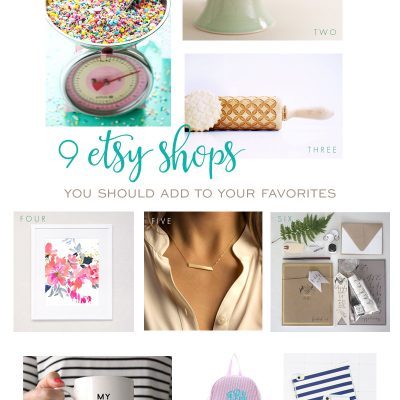 9 Etsy Shots to Add To Your Favorites!