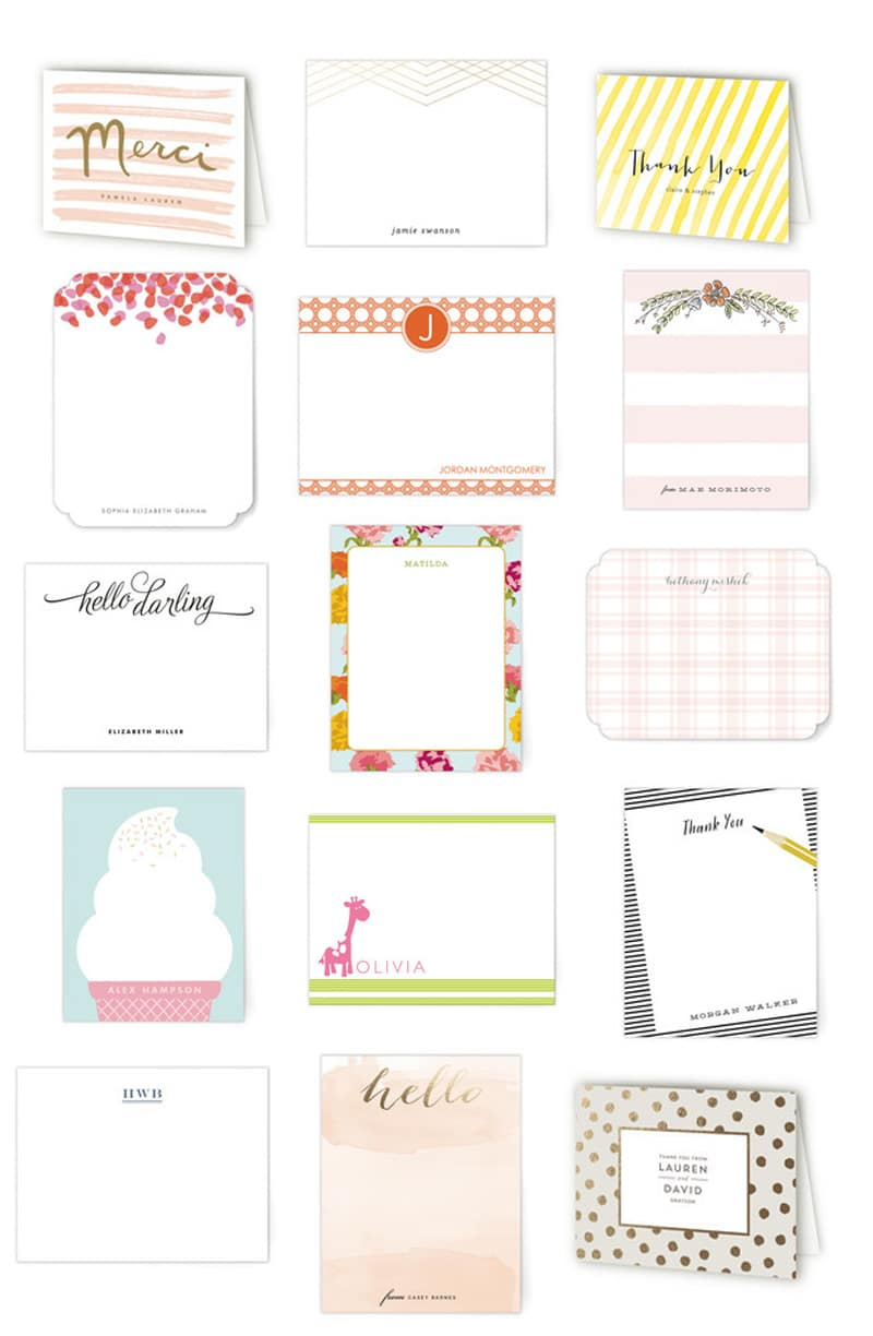Favorite Thank You Notes and Stationery