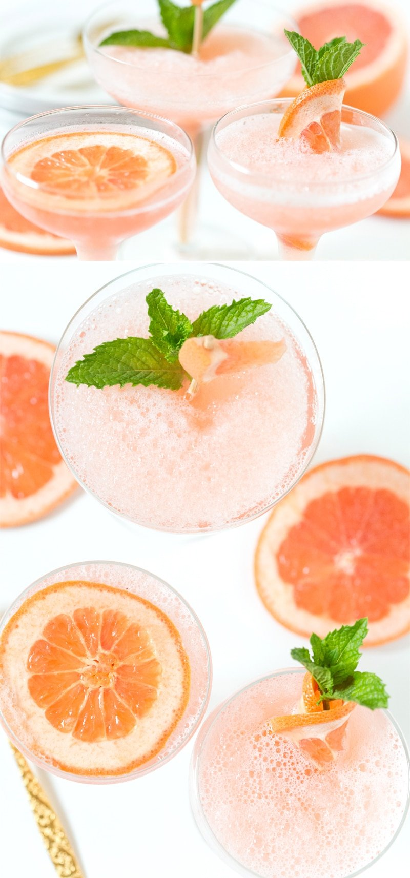 Frozen Rosé Grapefruit Cocktail | SO delicious, my favorite cocktail! Pizzazzerie.com
