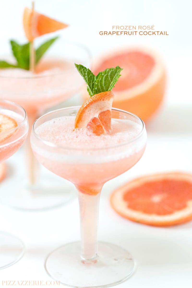 Frozen ros grapefruit cocktail pizzazzerie for Cocktail rose