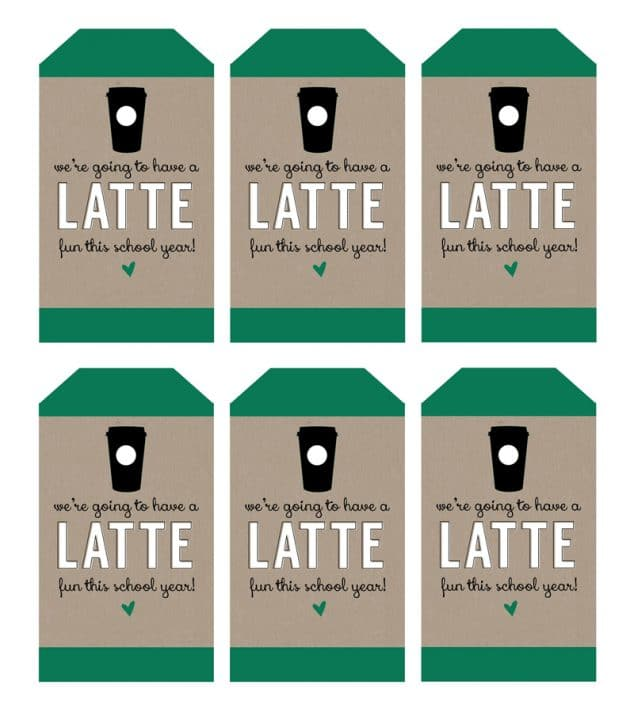 "We're Going to Have a ""Latte Fun"" This Year Teacher Gift for Back to School 