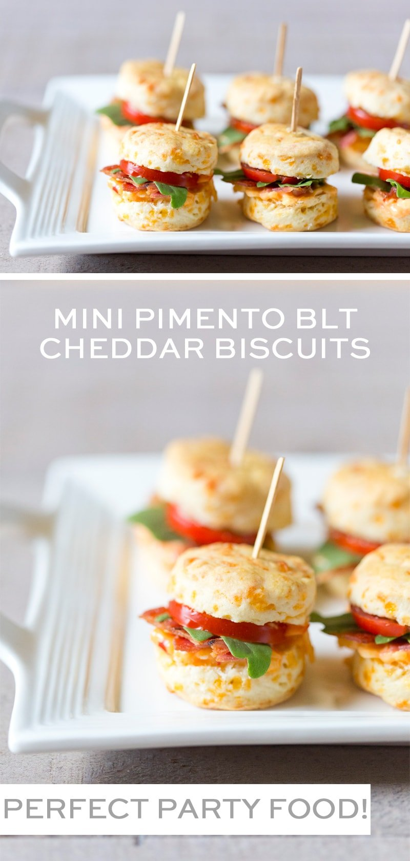 PARTY FOOD: Mini Pimento BLT Cheddar Biscuits