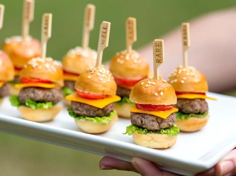 Halloween Hamburgers.Mini Cheeseburgers