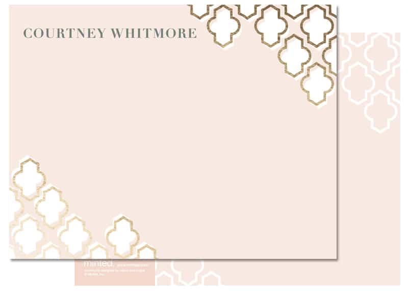 Gold Foil Pressed Stationery Minted