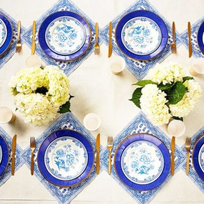 Stylish Blue and White Party