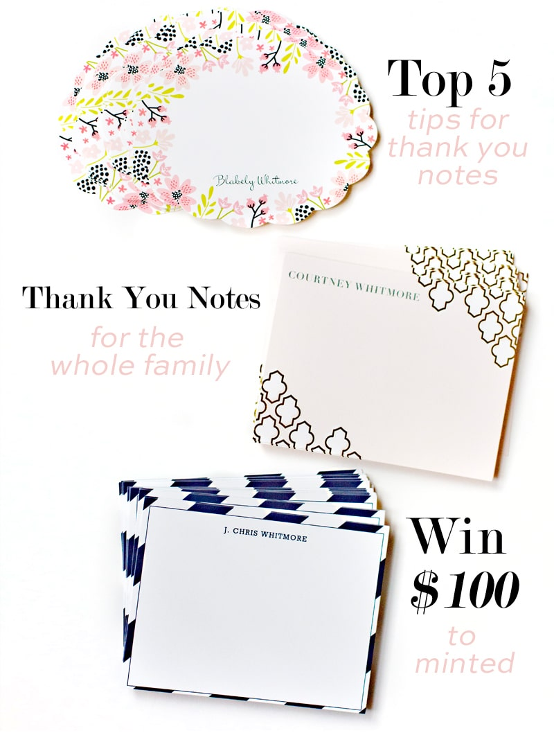 Thank You Notes, Top Tips and Picks for the Whole Family!
