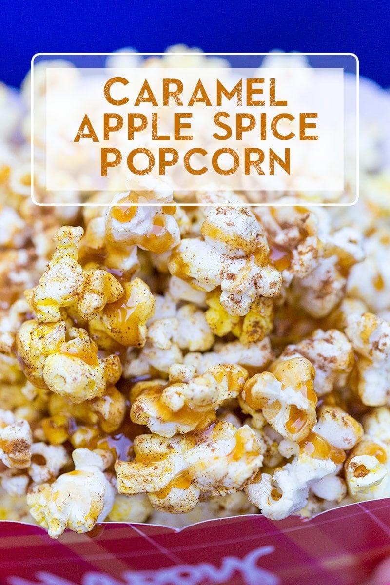 Delicious caramel apple spice popcorn!