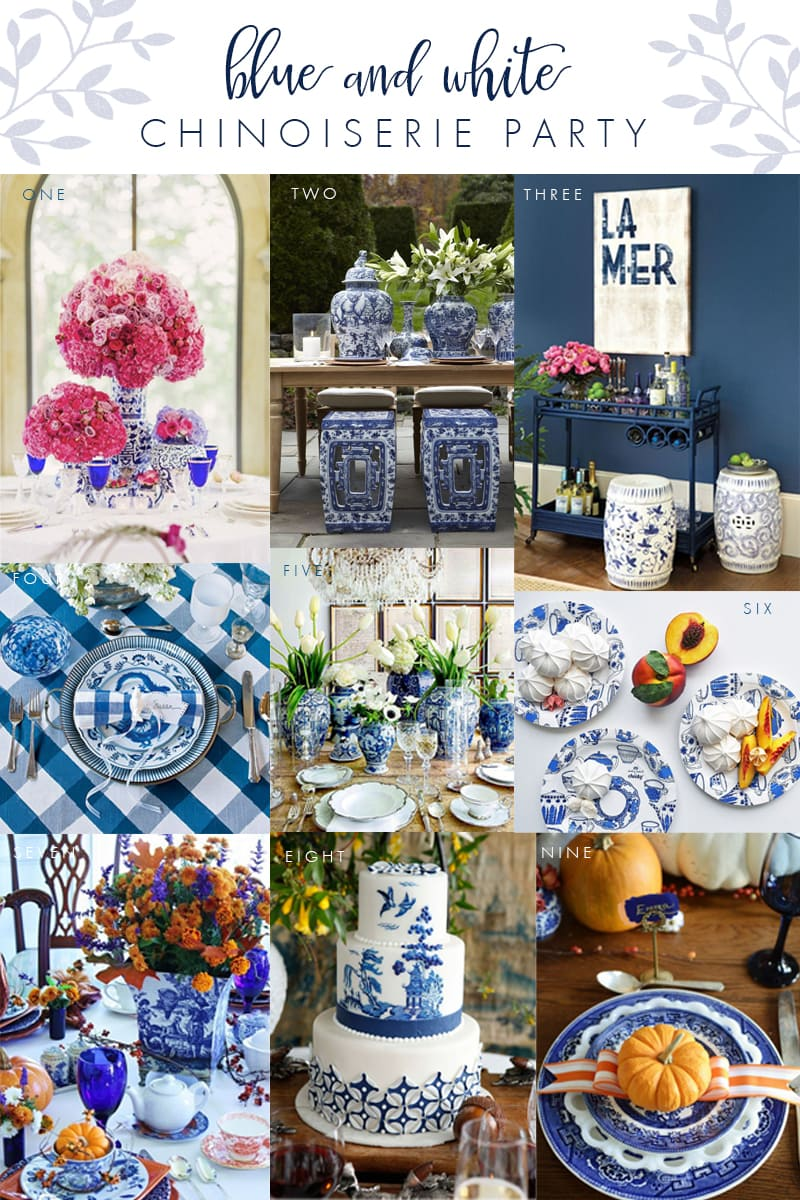 Set the Table in Blue & White Chinoiserie | Pizzazzerie