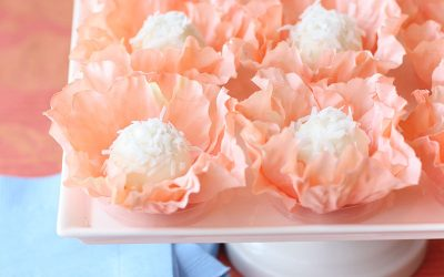 DIY Flower Truffle Favors