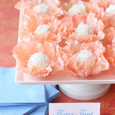 DIY Flower Truffle Holder + Recipe!