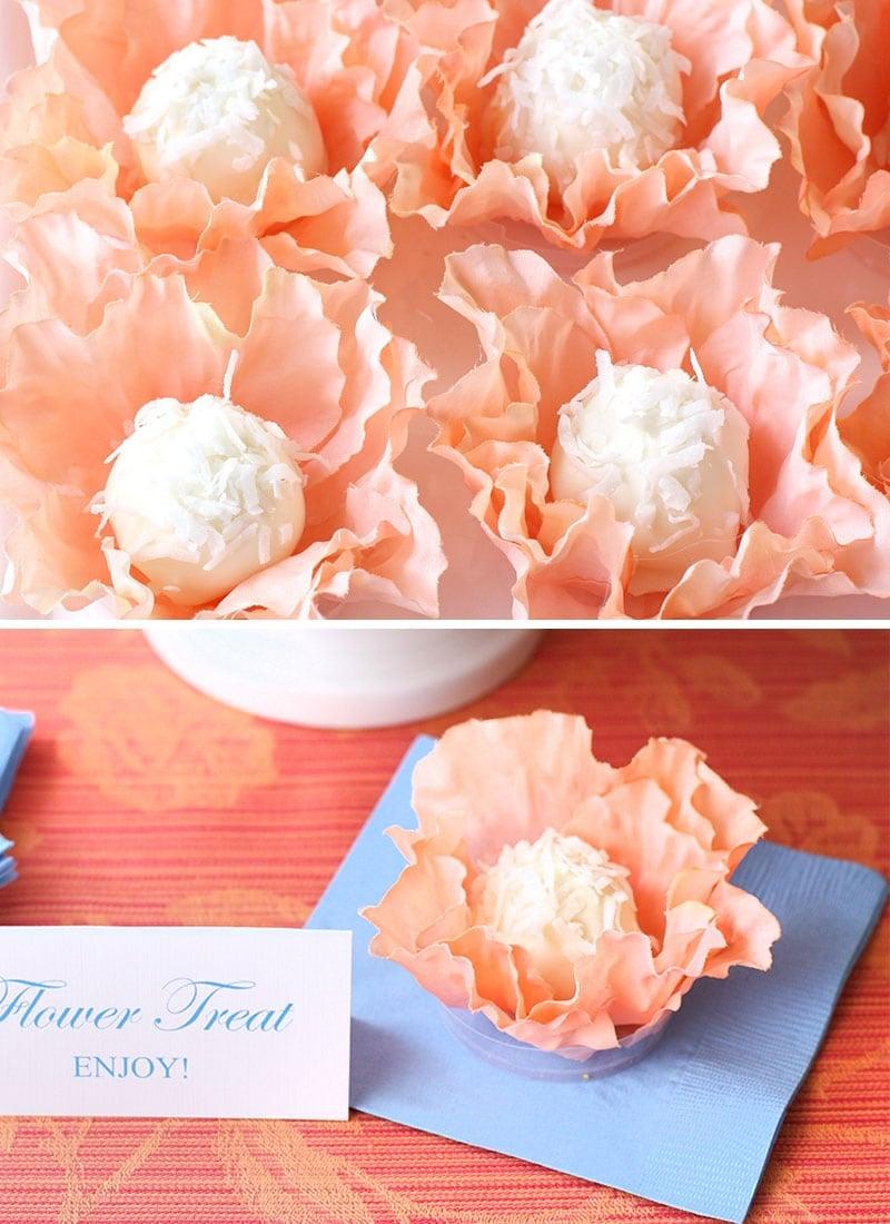 DIY Flower Truffle Holder + Recipe!