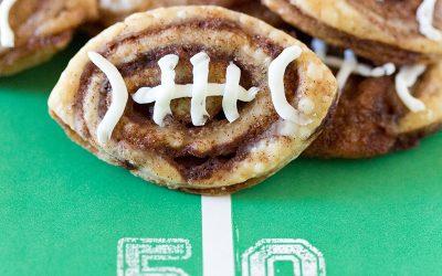 Football Cinnamon Roll Cookies