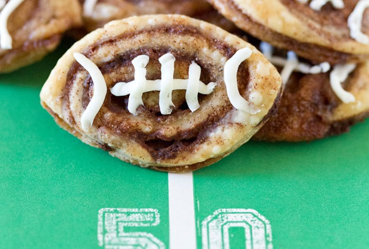Tailgate Food: Football Cinnamon Roll Cookies