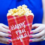 Happy Fall Y'all! Free printable popcorn box for fall! Plus, a delicious recipe for caramel apple spice popcorn.