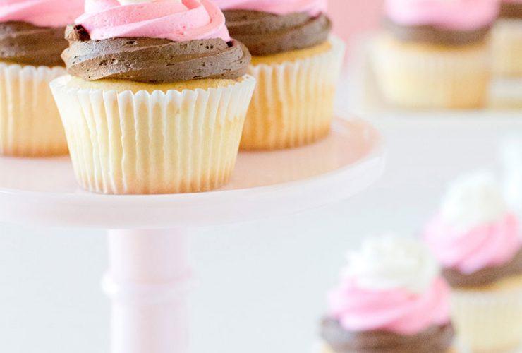 Pretty Party Treats: How To Make Neapolitan Cupcakes