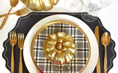 Fall Gold Tablescape