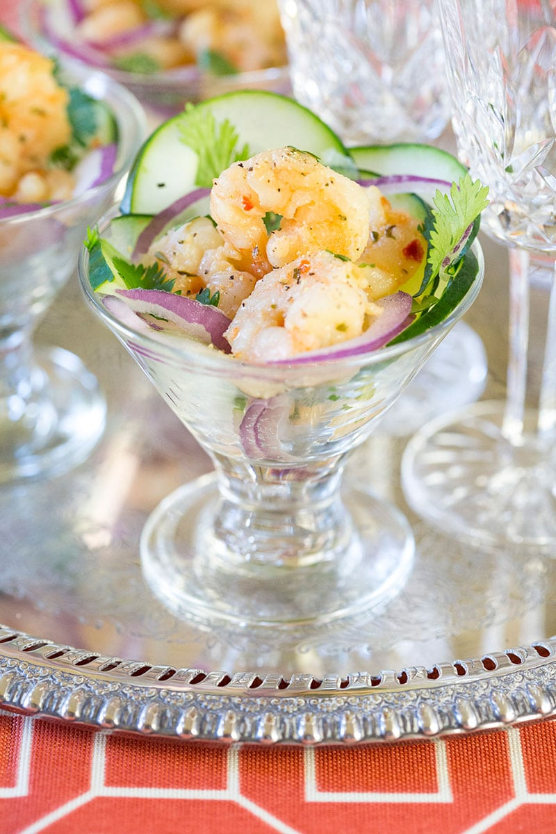 Easy and delish Shrimp Scampi Ceviche!