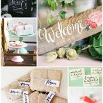 Fun ideas for hand lettering for entertaining and weddings!
