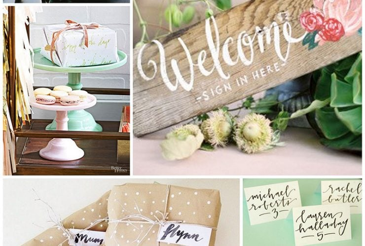 Hand Lettering Ideas For Entertaining