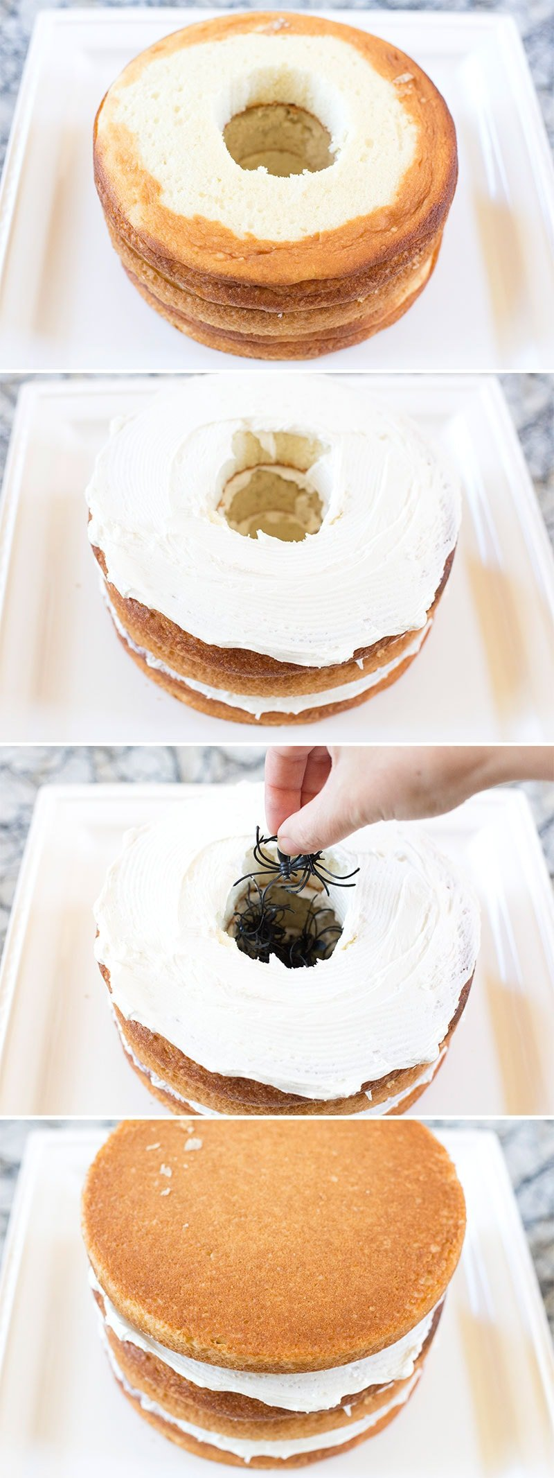 How to make a Halloween Surprise Spider Cake! Pizzazzerie.com