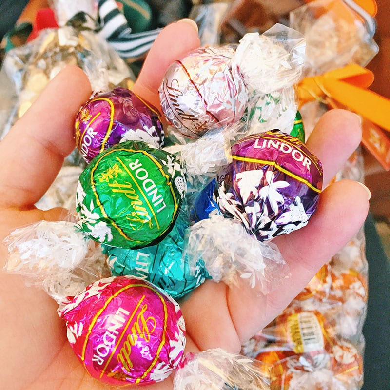colorful LINDOR truffles!