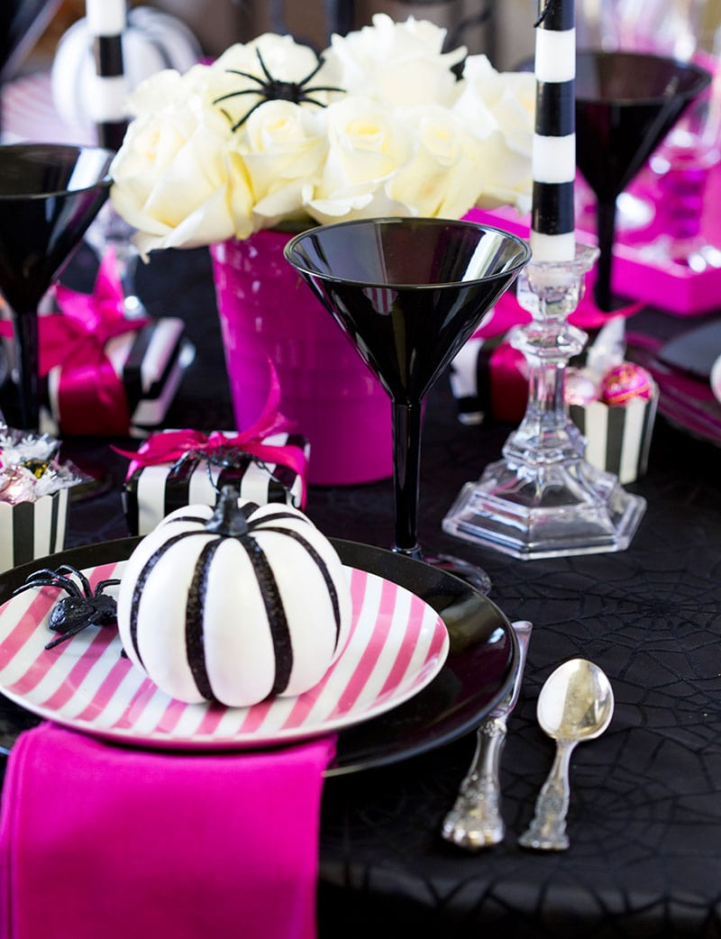 Pink O Ween Dinner Party Tablescape Pizzazzerie