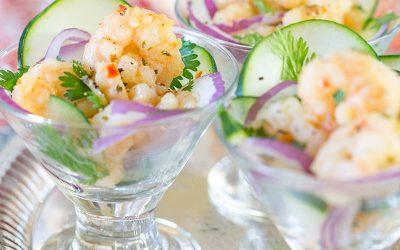 Easy and delish Shrimp Scampi Ceviche!