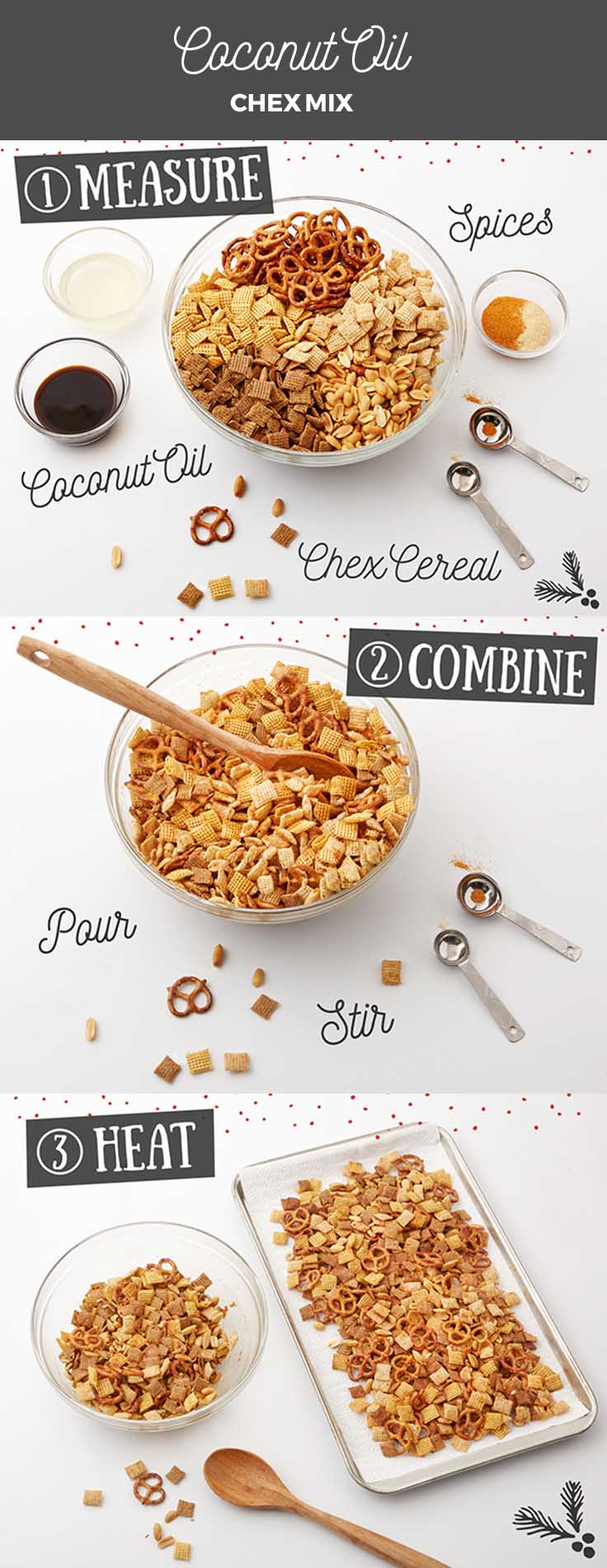 How to Make Coconut Oil Chex Mix!