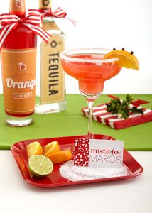 Christmas Party Cocktail: Mistletoe Margarita! Pizzazzerie.com #ChexMagic