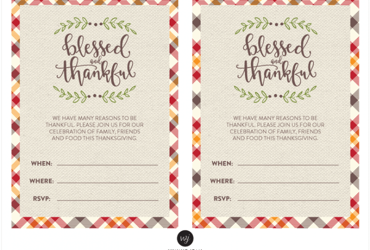 Thanksgiving Printable Party Set!