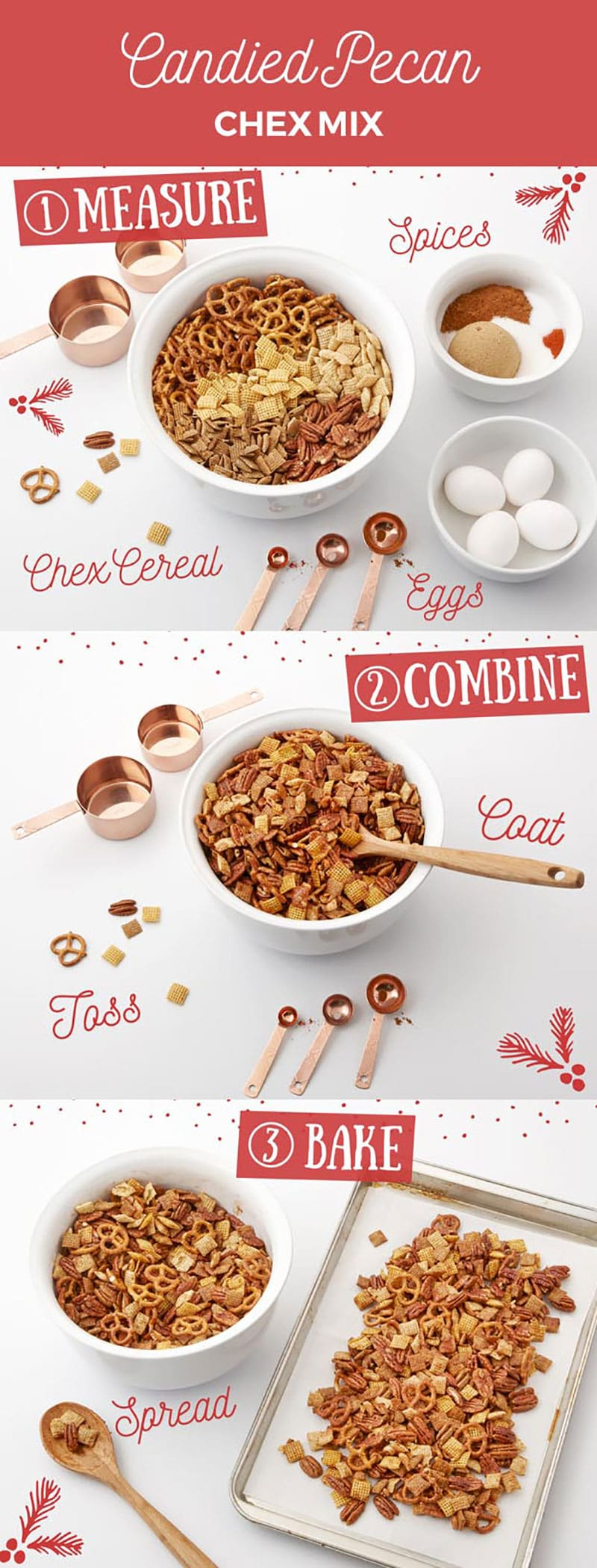 Candied Pecan Chex Mix Recipe, AMAZING!