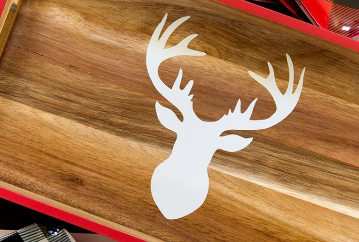 DIY Deer Head Tray & Silhouette Giveaway
