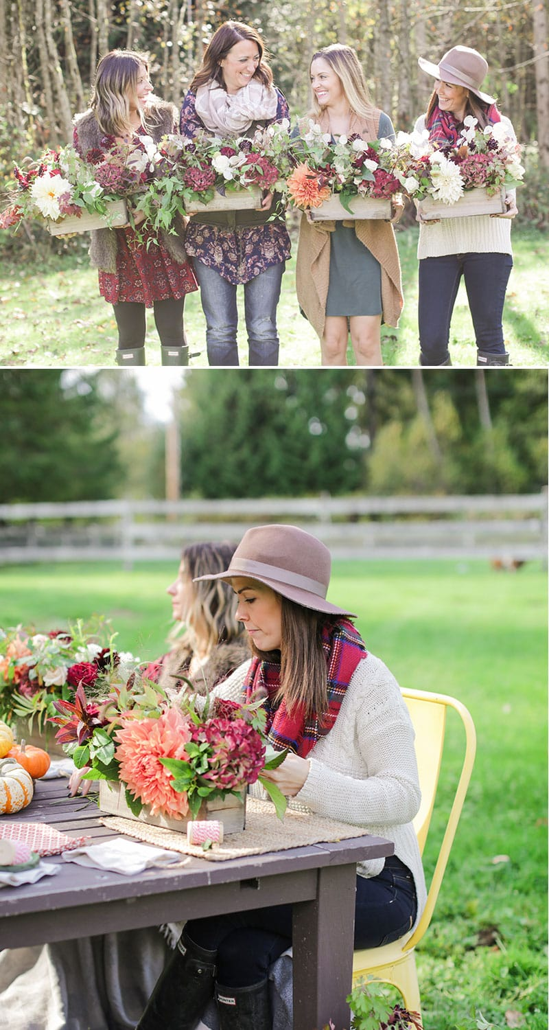 Grab your girlfriends and host a flower arranging class this fall!