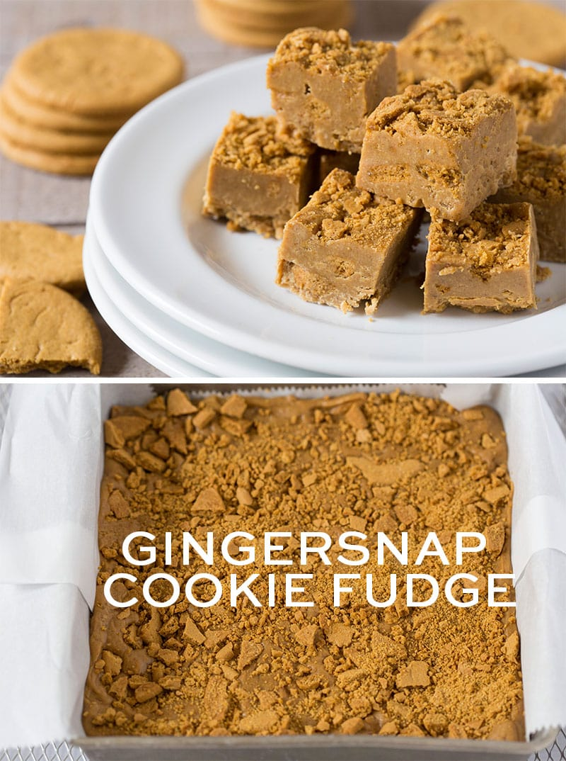 Gingersnap Cookie Fudge, perfect homemadeholiday treat for friends!