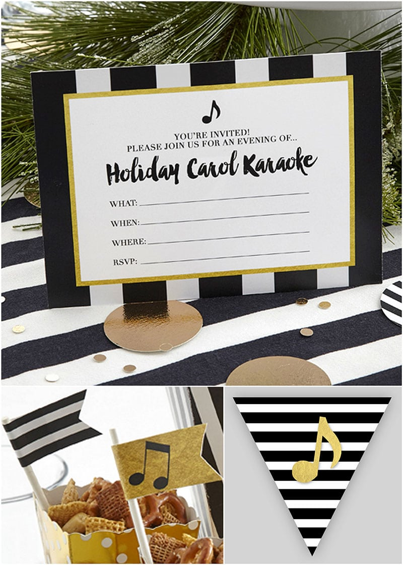 Holiday Carol Karaoke Free Printables