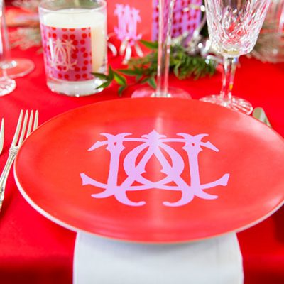 Monogram Holiday Tablescape