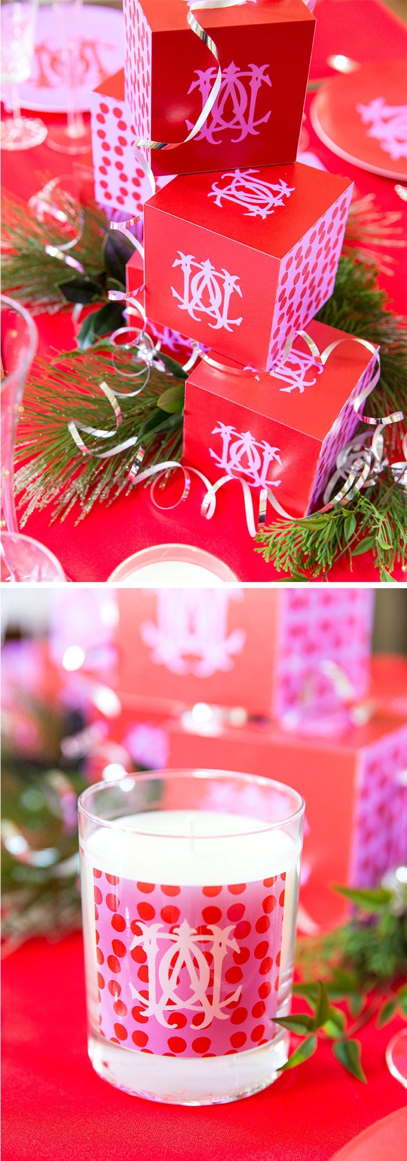 Create a personalized holiday tray for a Christmas tablescape! Pizzazzerie.com