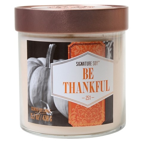 Perfect Thanksgiving Candle