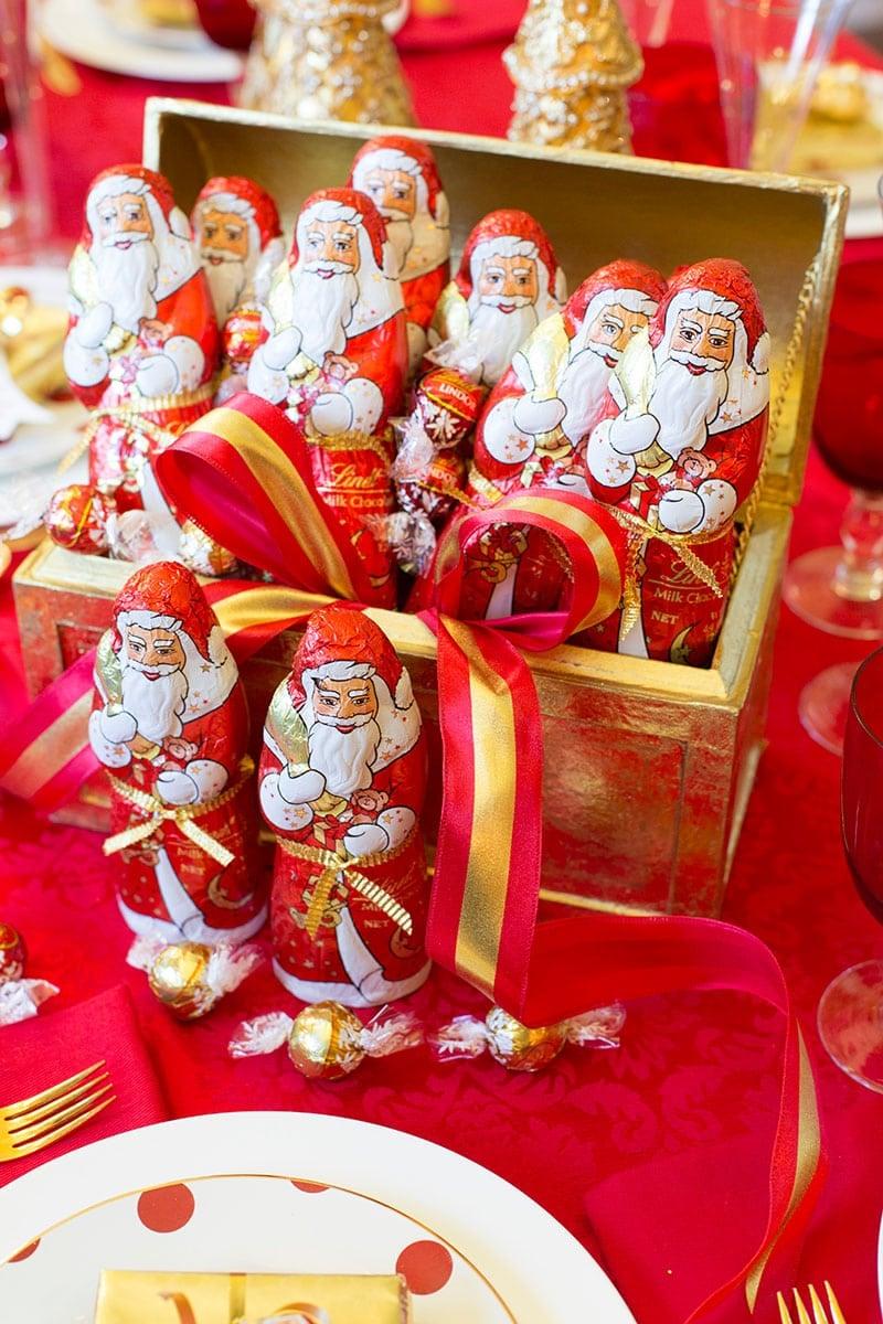 Chocolate Christmas Centerpiece